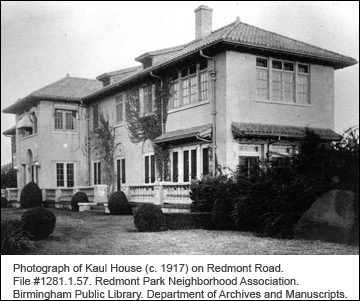 Photograph of Kaul House on Redmont Road #1281.1.57