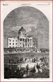'President J. Davis's Inauguration at Montgomery' Harper's Weekly, March 9, 1861