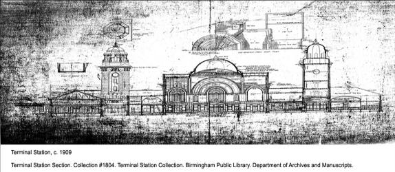 Terminal Station Section. Collection #1804. Terminal Station Collection. Birmingham Public Library. Department of Archives and Manuscripts.