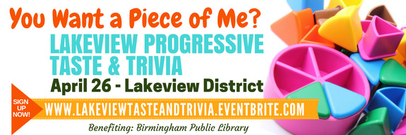 Lakeview Progressive Taste & Trivia April 26